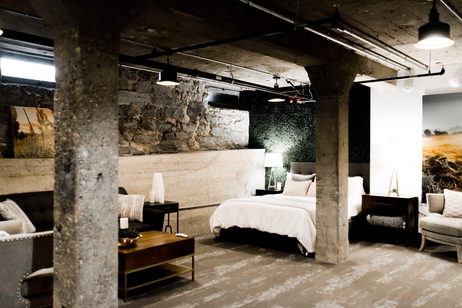 laminált padló és luxus hálószoba